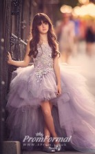 Princess Jewel Dark Lilac Kids Girls Dress CH0158