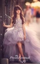 Princess Jewel Dark Lilac Kids Girls Dress CH0158