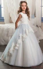 Princess Sleeveless Kids Prom Dress for Girls With Lace CH0131