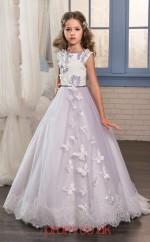 Jewel Sleeveless Lilac Kids Prom Dresses CHK018