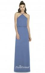 DASUKD738 Plus Sides Sheath Halter Lavender 40 Satin Chiffonper Bridesmaid Dresses