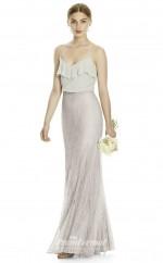 DASUKJYS529 Plus Sides Mermaid/Trumpet Straps Beige 91 And Gray 93 Lace Chiffonper Bridesmaid Dresses