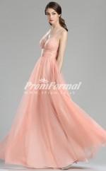 EBD005 Straps Coral Bridesmaid Dresses
