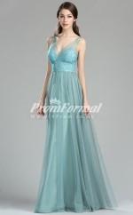 EBD015 Straps Green Bridesmaid Dresses
