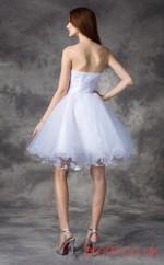 White Tulle A-line Mini Sweetheart Graduation Dress(JT2403)