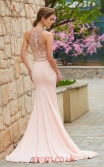 Trumpet/Mermaid Satin Chiffon Blushing Pink Halter Long Prom Dress(JT2648)