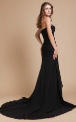 Trumpet/Mermaid Chiffon Black Sweetheart Long Formal Prom Dress(JT2684)