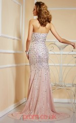 Pink Chiffon Trumpet/Mermaid Sweetheart Floor-length With Split Front Evening Dresses(JT2721)