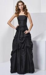 Royal Blue Taffeta Ball Gown Strapless Floor-length Bridesmaid Dresses(JT2888)