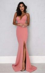 Sexy Sheath Split Spaghetti Straps Mermaid Prom Formal Dress  JTA0911