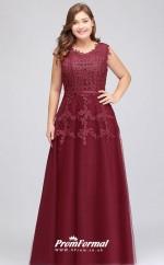 Burgundy Long  Illusion Bridesmaid/Party Dresses PPBD002