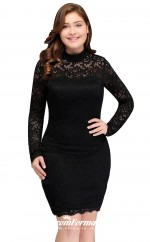 Black Short/Mini Long Sleeve Illusion Bridesmaid/Party Dresses PPBD003