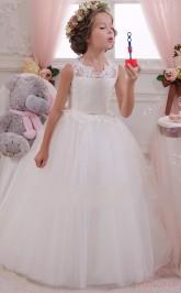 Special Offer! Cute Flower Girl Dresses Ball Gown Sleeveless Kids Prom Dress for Girls CH0111
