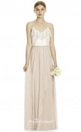 DASUKJYS531 Plus Sides A Line Straps Beige 59 And Champange 64 Lace Chiffonper Bridesmaid Dresses