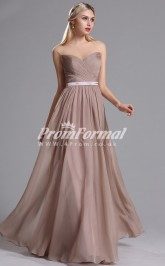 EBD016 Illusion Brown Bridesmaid Dresses