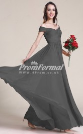 EBD020 Strapless Grey Bridesmaid Dresses