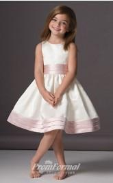 Cute A-line Knee-length White Flower Girls Dresses FGD439