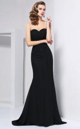 White Chiffon Trumpet/Mermaid Sweetheart Floor-length Clearance Prom Dresses(JT2892)