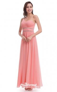 Pink One Shoulder Bridesmaid Dresses 4MBD027