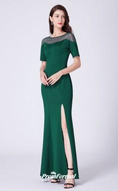 Green Illusion Bridesmaid Dresses 4MBD055