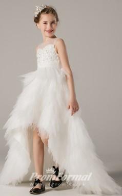 Cute High Low Girls Illusion Communion Dress BCH016