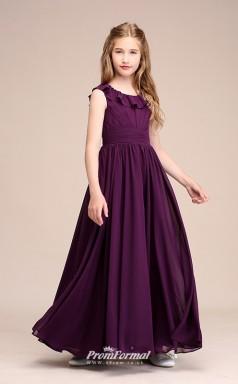 Affordable Grape Jewel Junior Bridesmaid Dress Floor-length Pageant Dress BCH059