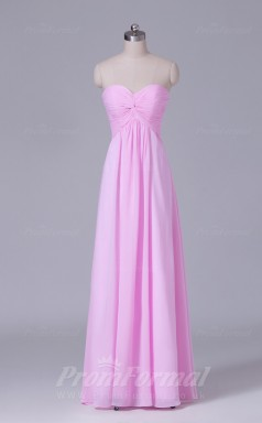 A-line Peach Chiffon Floor-length Prom Dress(PRBD04-S465)