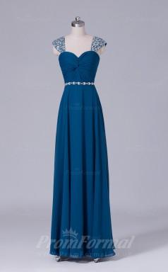 A-line Aegean Chiffon Floor-length Prom Dress(PRBD04-S499)