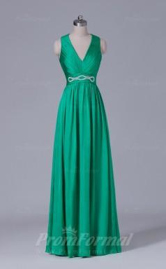 A-line Green Spandex Floor-length Prom Dress(PRBD04-S505)