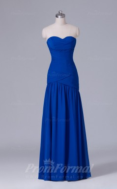 Trumpet/Mermaid Royal Blue Chiffon Floor-length Prom Dress(PRBD04-S521)