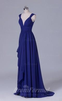 A-line Regency Chiffon Floor-length Prom Dress(PRBD04-S540)