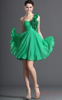 Jade 100D Chiffon A-line One Shoulder Sweetheart Short Prom Dress(BD04-412)