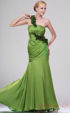 Sage 100D Chiffon Sheath/Column One Shoulder Floor-length Prom Dress(BD04-457)