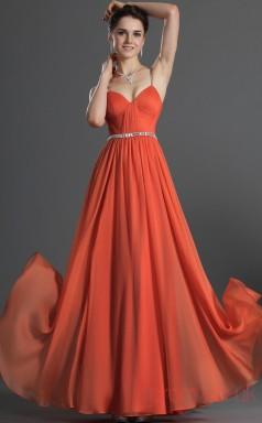 Ink Blue 100D Chiffon A-line Strapless Sweetheart Floor-length Prom Dress(BD04-486)
