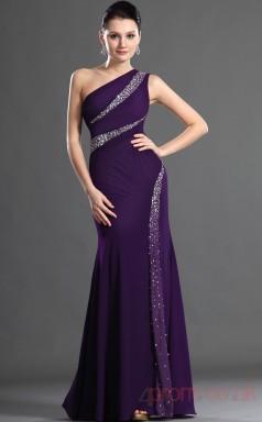 Regency Satin Trumpet/Mermaid One Shoulder Floor-length Prom Dress(BD04-503)