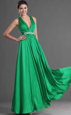 Clover 100D Chiffon A-line V-neck Floor-length Prom Dress(BD04-505)