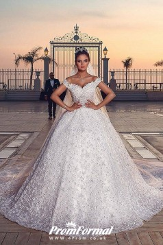 Luxury Sweetheart Ball Gown Exquisite Lace Wedding Dresses Extraordinary BWD024