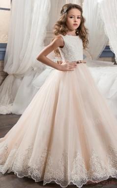 Princess Sleeveless Kids Prom Dress for Girls CH0113