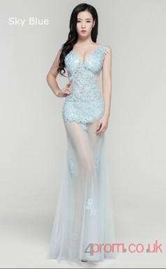 Evening See Through V-neck Clubwear Dress Car Show Models BX-D023