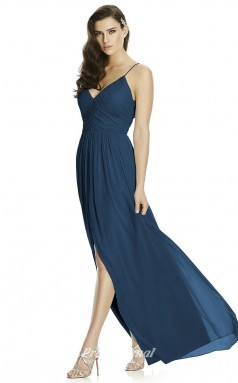 DASUK2989 Plus Sides A Line Straps Navy Blue 102 Chiffonper Bridesmaid Dresses