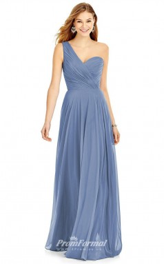 DASUK6751 Plus Sides A Line One Shoulder Lavender 40 Chiffonper Bridesmaid Dresses
