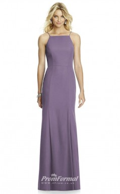 DASUK6759 Plus Sides Mermaid/Trumpet Straps Purple 101 Satin Chiffon With Lace Up Bridesmaid Dresses