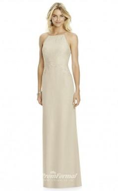 DASUK6764 Plus Sides Sheath Straps Beige 59 Lace Satin Chiffonper Bridesmaid Dresses
