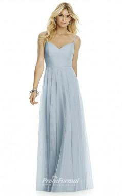 DASUK6766 Plus Sides A Line Straps Light Sky Blue 65 Silk Like Chiffonper Bridesmaid Dresses