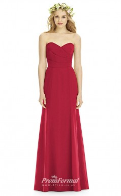 DASUK8176 Plus Sides Mermaid/Trumpet Sweetheart Ruby 1 Satinper Bridesmaid Dresses