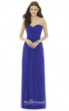 DASUKD725 Plus Sides A Line Sweetheart Blue 146 Chiffon With Open Back Bridesmaid Dresses
