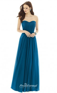 DASUKD727 Plus Sides A Line Sweetheart Laguna Chiffon With Mid Back Bridesmaid Dresses