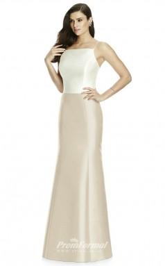DASUKS2980 Plus Sides Mermaid/Trumpet Square Gray 93 Satinper Bridesmaid Dresses
