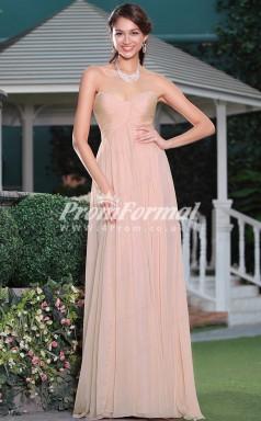 EBD002 Sweetheart Long Pink Bridesmaid Dresses