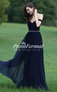 EBD003 Sweetheart Long Navy Blue Bridesmaid Dresses
